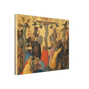 Passion of Jesus Christ Crucifixion Painting Canvas Print