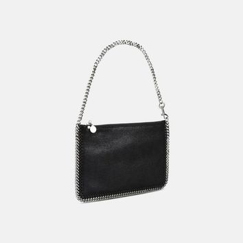 Black Falabella Shaggy Deer Purse - Stella Mccartney