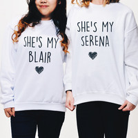 Blair Serena Best Friends Sweatshirt