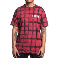 CORE PLAID WASH S/S TEE – HONEY BRAND
