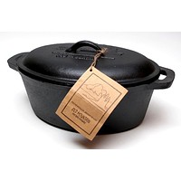 Old Mountain Cast Iron Preseasoned Casserole with Lid
