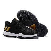 Adidas Men James Harden 2.0 Black/Gold Basketball Shoes
