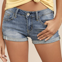 Lakeside Days Medium Wash Cutoff Denim Shorts