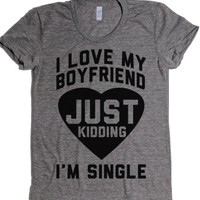 Single-Female Athletic Grey T-Shirt
