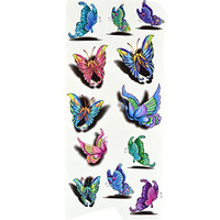 TAFLY Body Art 3D Sexy Butterfly Temporary Tattoos Transfer Tattoos Stickers for Women's 5 Sheets