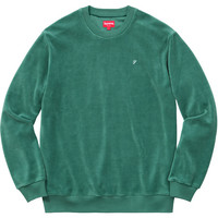 Supreme: Velour Crewneck - Green