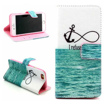 Infinite Print Leather Case Cover Wallet for iPhone 6 / iPhone plus