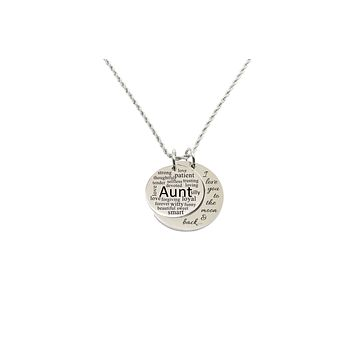 Love you to the moon double pendant necklace - Aunt