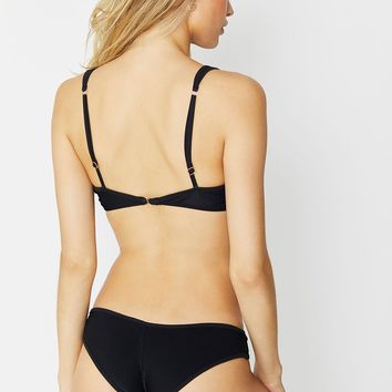 Frankie's Bikinis 2018 Alana Ribbed Bottom in Black