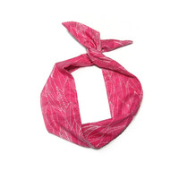 Pink Leaf Pattern Wire Headband Dolly Bow Knot Headband by All Things in Color