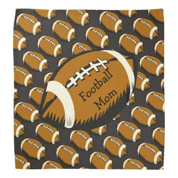 Brown and Black Football Mom Sports Bandana