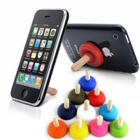 On Sale-Buy one get one free-Sucker Stand Mini Plunger Sucker Stand for Mobile iPhone 3G/3GS/4G/5G DIY ITEM phone accessories