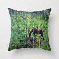 The horse Throw Pillow by Yasmina Baggili | Society6
