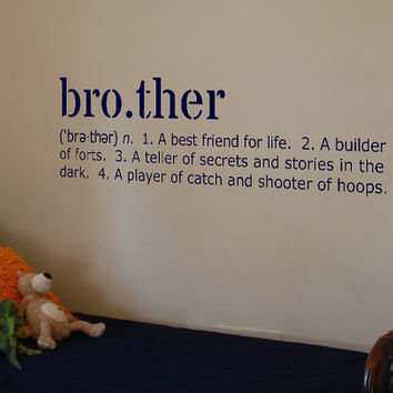 "Brother Definition Vinyl Wall Art Decal 10"" x 29"""