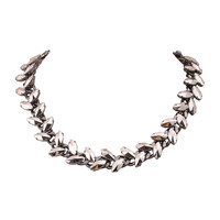 Silver Rhinestone Necklace Fashion Chunky Necklace Clusters Jewelry