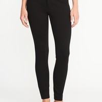 Mid-Rise Built-In Sculpt Ponte-Knit Pixie Ankle Pants for Women | Old Navy