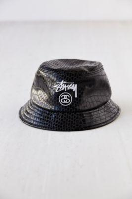 Stussy Croc Faux-Leather Bucket Hat- from Urban Outfitters 6edefeae8a3