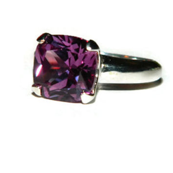 Alexandrite Ring, 10MM Cushion Cut Stone, Proposal Ring, Alternative Wedding Ring