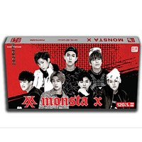 2017 new kpop MONSTA X same postcard 121+poster album card k-pop MONSTA lomo photo photocard Stickers lyrics greeting