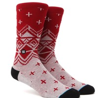 Stance Asher Crew Socks - Mens Socks - Red - One