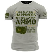 New GRUNT STYLE AMMO IS HAPPINESS  LICENSED T Shirt