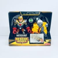 2004 ROBOTZ RESCUE HEROS JACK HAMMER AND C-MENT FISHER PRICE