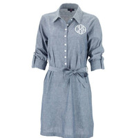 Monogrammed Chambray Dress - Perfect gift.