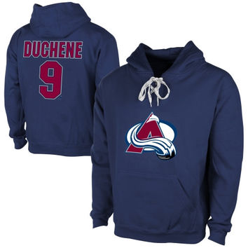 Old Time Hockey Matt Duchene Colorado Avalanche Current Player Malcolm Skate Lace-Up Name & Number Pullover Hoodie - Steel Blue