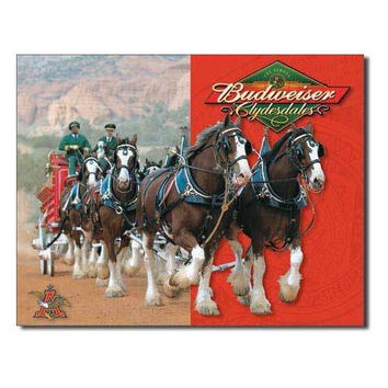 Tin Sign : Budweiser - Clydesdales