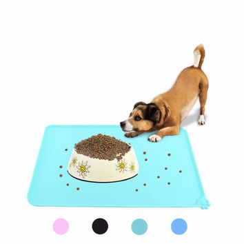 Cute Silicone Bed Dish Bowl Food Water Feed