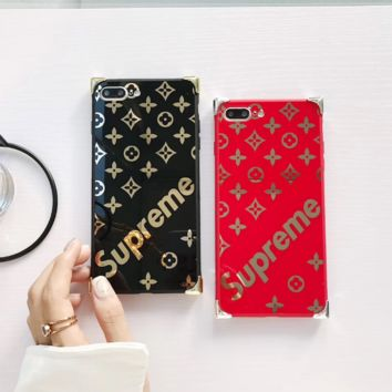 Fashion Bling Supreme Print Iphone 6 6s Plus/ 7 7 Plus/ 8 8 Plus/X Cover Case
