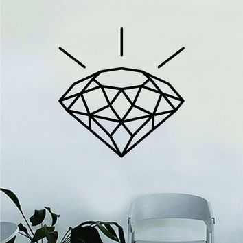Diamond Wall Decal Home Decor Art Bedroom Room Sticker Vinyl Gem Girls Woman Cute Jewelery Shine Bright Teen