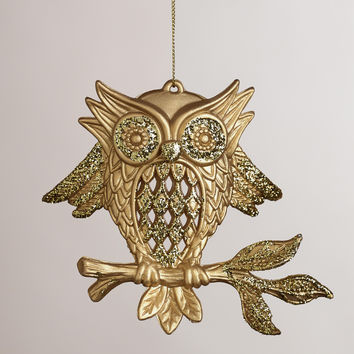 Owl on Branch Ornaments, Set of 3 - World Market