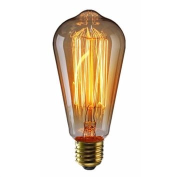 Edison 3piece E27 Bulbs 60W Tungsten Filament Light Bulb - For Home to Hotels - Free Shipping