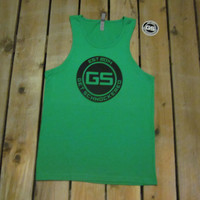CLASSIC BLACK ON GREEN - MEN'S TANK TOP