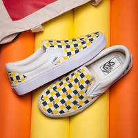 VANS ERA Slip-On Canvas Old Skool Checkerboard Tartan Sneakers Sport Shoes