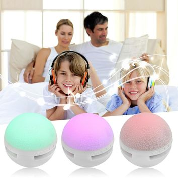 Portable Mini Ball Style Wireless Bluetooth Speaker MP3 Colorful LED TF card AUX USB port Hands free For Smart Phones Child Gift