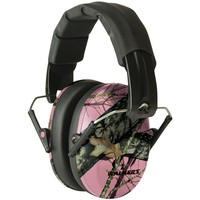 Walkers Game Ear Pro Low-profile Folding Muff (pink And Mossy Oak Camo)