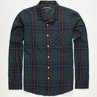 Rvca Elijah Mens Shirt Navy  In Sizes