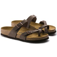 Newest Hot Sale Mayari Birkenstock Summer Fashion Leather Beach Lovers Slippers Casual Sandals For Women Men Couples Slippers color brown size 36-45