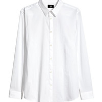 Stretch Shirt Slim fit - from H&M