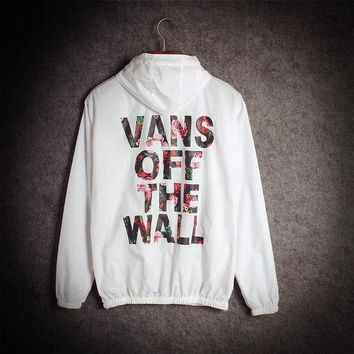 ONETOW Day-First? Vans of the wall Fashion Print Cardigan Windbreaker Jacket Coat