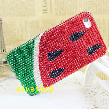 cute watermelon iphone 4 case.iphone 5 case ,bling iphone 5 cover handmade