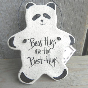 Panda Bear Ornament Salt Dough Bear