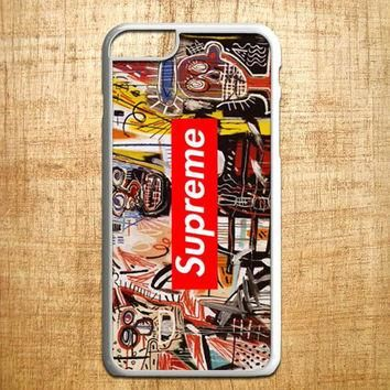 Jean Michel Basquiat art supreme for iphone 4/4s/5/5s/5c/6/6+, Samsung S3/S4/S5/S6, i