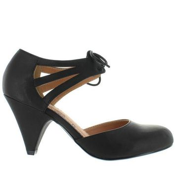 CREYONIG Restricted Kristy - Black Retro Oxford Pump