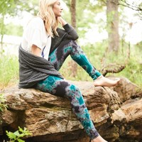 Purple & Teal Tie Dye Leggings