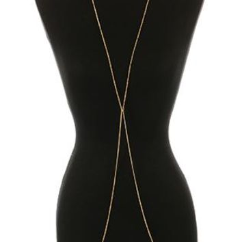 Body Chain Toggle Closure Necklace And Metal Ring Link Double Chain