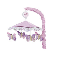 Lambs & Ivy Butterfly Bloom Musical Mobile