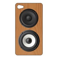 Kikkerland MP14 Wood Speaker 3-D Motion iPhone 4 Case - Face Plate - Retail Packaging